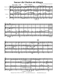 Süsser die Glocken nie klingen: para quarteto de bronze by folklore