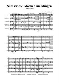 Süsser die Glocken nie klingen: para quarteto de clarinete by folklore