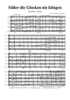 Süsser die Glocken nie klingen: For saxophone quintet by folklore