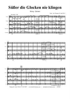 Süsser die Glocken nie klingen: para orquetra de cordas by folklore