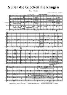 Süsser die Glocken nie klingen: For wind quintet by folklore