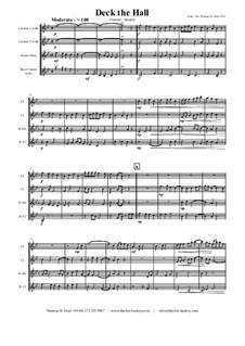Deck the Hall: para quarteto de clarinete by folklore