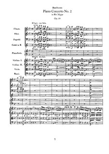 Concerto for Piano and Orchestra No.2, Op.19: movimento I by Ludwig van Beethoven