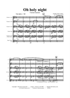 Instrumental version: For clarinet quintet by Adolphe Adam