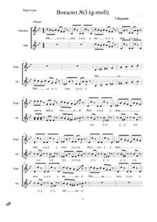 Цикл вокализов для детского хора: Вокализ No.3 by Tatyana Burcheva