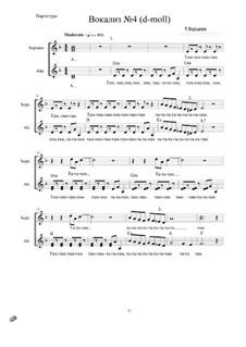 Цикл вокализов для детского хора: Вокализ No.4 by Tatyana Burcheva
