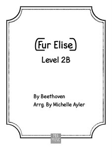 For Elise, for Piano, WoO 59: For beginner piano by Ludwig van Beethoven