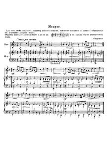 Minuet for Horn and Piano: Minuet for Horn and Piano by Johann Sigismund Scholze