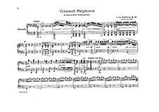 Septet for Winds and Strings, Op.20: versão para piano de quatro mãos by Ludwig van Beethoven
