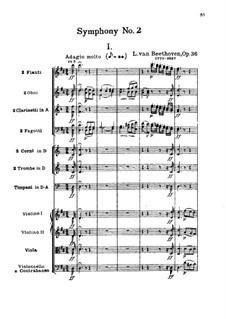 Symphony No.2, Op.36: movimento I by Ludwig van Beethoven