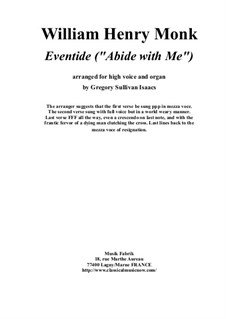 Abide with Me: For high voice and organ by William Henry Monk