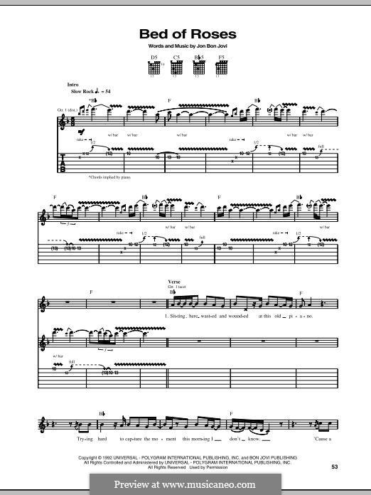 Bed of Roses (Bon Jovi): Para guitarra com guia by Jon Bon Jovi