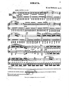 Sonata for Piano No.21 'Waldstein', Op.53: Reduction by H. Bülow by Ludwig van Beethoven