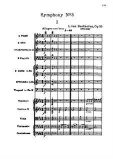 Symphony No.3 'Eroica', Op.55: movimento I by Ludwig van Beethoven