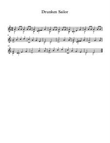 Drunken Sailor: Para Guitarra by folklore