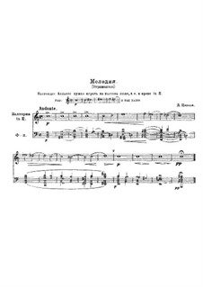 Melody in A Minor, for French Horn and Piano: Melody in A Minor, for French Horn and Piano by Domenico Zipoli