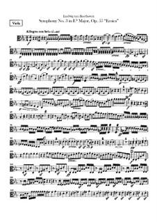 Complete set: parte violas by Ludwig van Beethoven