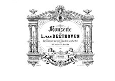 Complete Concerto: Version for piano four hands by H. Ulrich by Ludwig van Beethoven