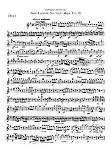 Complete Concerto: parte de oboes by Ludwig van Beethoven