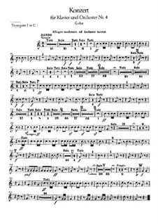 Complete Concerto: parte trompetas by Ludwig van Beethoven