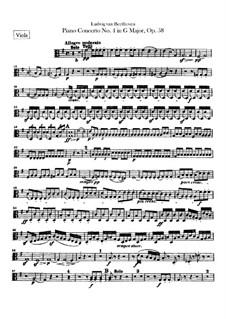 Complete Concerto: parte violas by Ludwig van Beethoven