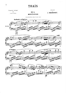 Meditation: Para Piano by Jules Massenet