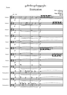 Extrication, Op.76: Extrication by Nino Janjgava