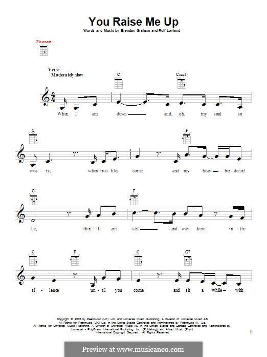 You Raise Me Up: para ukulele by Brendan Graham, Rolf Løvland