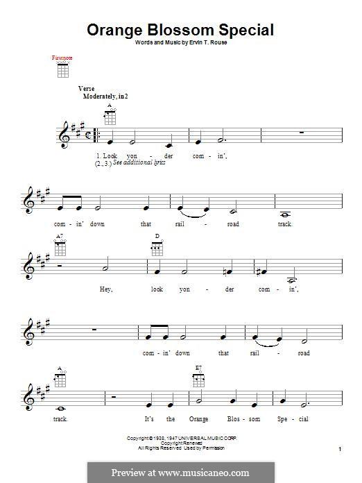 Orange Blossom Special: para ukulele by Johnny Cash