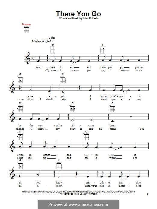 There You Go: para ukulele by Johnny Cash