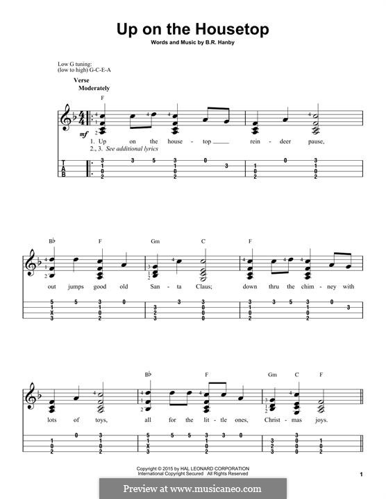 Up on the House Top: para ukulele by Benjamin Russel Hanby