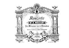 Concerto for Piano and Orchestra No.22 in E Flat Major, K.482: arranjos para piano de quatro mãos by Wolfgang Amadeus Mozart