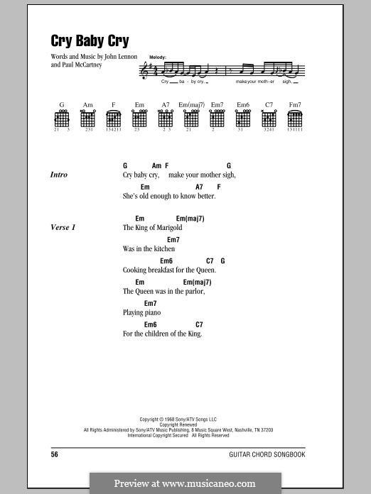 Cry Baby Cry (The Beatles): Letras e Acordes by John Lennon, Paul McCartney