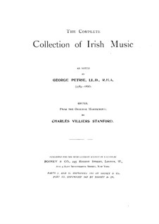The Complete Collection of Irish Music: livro I by George Petrie