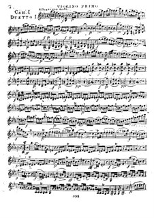 Six Concert Duos for Two Violins, WIV 1-6: Duos No.1-3 – parts by Giovanni Battista Viotti