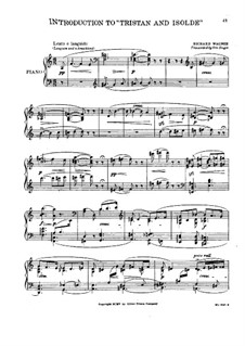 Fragments: Introduction to Act I, for piano. Version by O. Singer by Richard Wagner