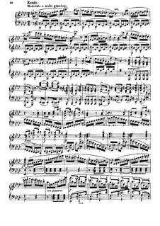 Sonata for Piano No.2 in A Flat Major, J.199 Op.39: Movement IV (with fingering) by Carl Maria von Weber