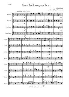 Since First I Saw Your Face: para quarteto de flauta by Thomas Ford