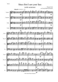 Since First I Saw Your Face: para quartetos de cordas by Thomas Ford