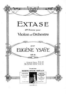 Extase, Op.21: Extase by Eugène Ysaÿe