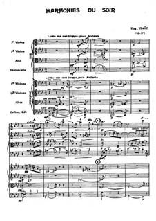 Harmonies du soir, Op.31: Partitura completa by Eugène Ysaÿe