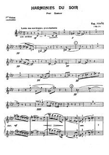 Harmonies du soir, Op.31: Orchestra parts by Eugène Ysaÿe
