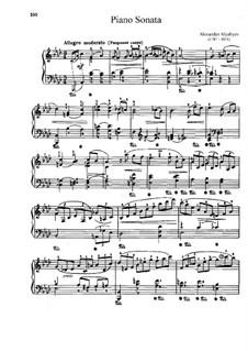 Piano Sonata: soneto para piano by Alexander Alyabyev