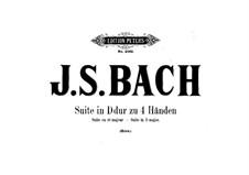 Orchestral Suite No.4 in D Major, BWV 1069: arranjos para piano de quatro mãos by Johann Sebastian Bach