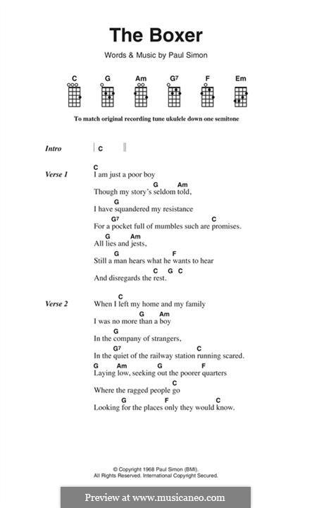 The Boxer: Letras e Acordes by Paul Simon