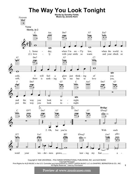 Vocal-instrumental version: para ukulele by Jerome Kern