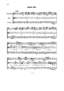 Agnus Dei: Partitura completa by Johann Sebastian Bach