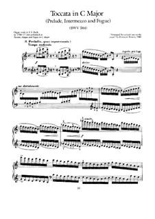 Toccata, Adagio and Fugue in C Major, BWV 564: Para Piano by Johann Sebastian Bach