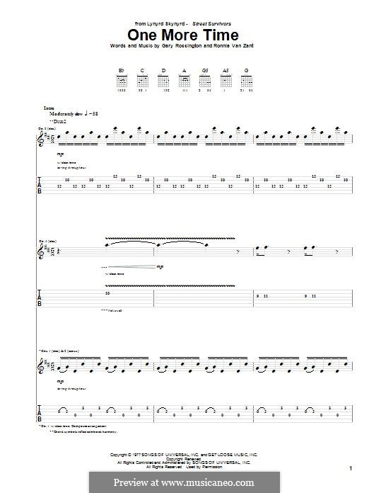 One More Time (Lynyrd Skynyrd): Para guitarra com guia by Gary Rossington, Ronnie Van Zant