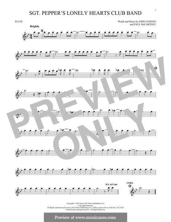 Sgt. Pepper's Lonely Hearts Club Band (The Beatles): para flauta by John Lennon, Paul McCartney